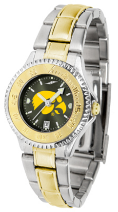 Iowa Hawkeyes Competitor AnoChrome Ladies Watch with Two-Tone Band