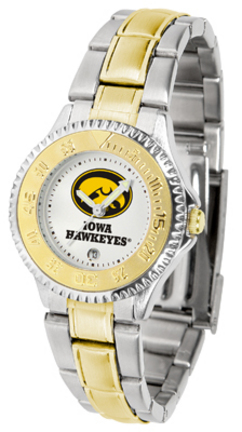 Iowa Hawkeyes Competitor Ladies' Watch with Two-Tone Band