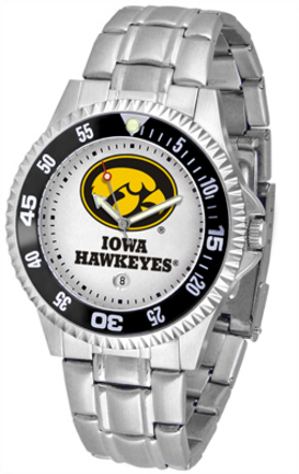 Iowa Hawkeyes Competitor Men's Watch with a Metal Band