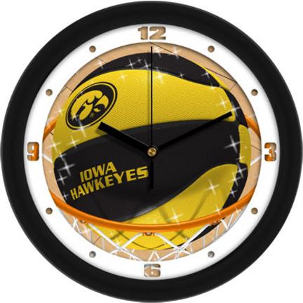 Iowa Hawkeyes Slam Dunk 12 inch Wall Clock