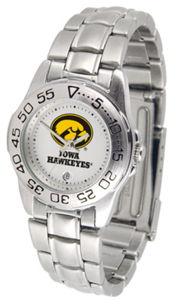 Iowa Hawkeyes Gameday Sport Ladies' Watch with a Metal Band