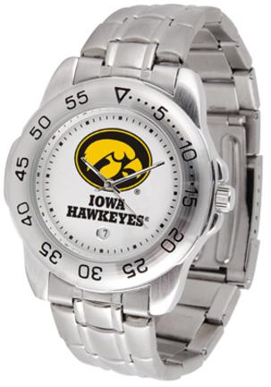 Iowa Hawkeyes Sport Steel Band Men's Watch