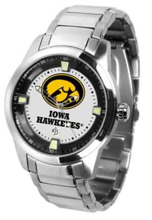Iowa Hawkeyes Titan Steel Watch