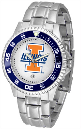 Illinois Fighting Illini Competitor Men's Watch with a Metal Band
