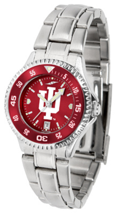 Indiana Hoosiers Competitor AnoChrome Ladies Watch with Steel Band and Colored Bezel