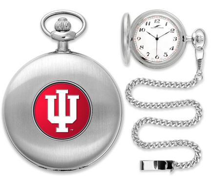 Indiana Hoosiers Silver Pocket Watch