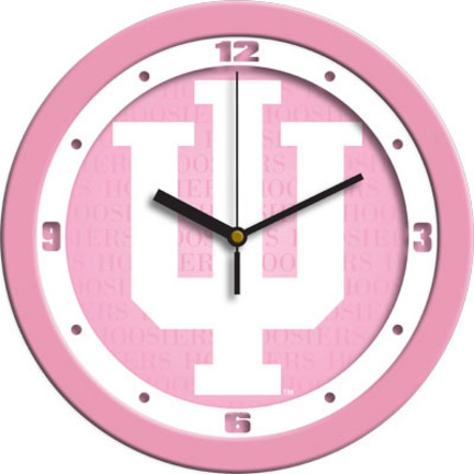Indiana Hoosiers 12 inch Pink Wall Clock
