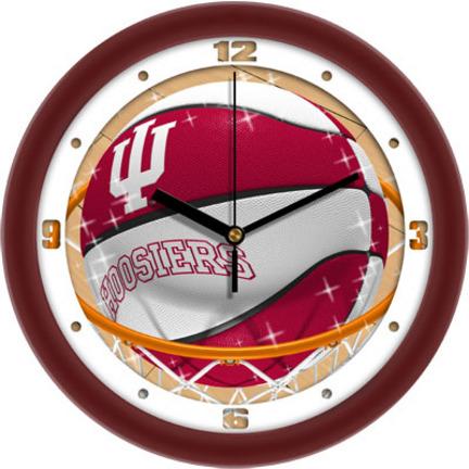 Indiana Hoosiers Slam Dunk 12 inch Wall Clock