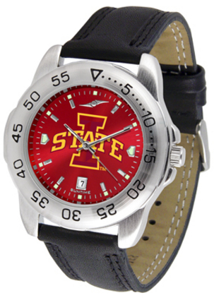 Iowa State Cyclones Sport AnoChrome Men's Watch with Leather Band