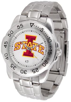 Iowa State Cyclones Sport Steel Band Men's Watch