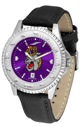 James Madison Dukes Competitor AnoChrome Men's Watch with Nylon/Leather Band