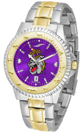 James Madison Dukes Competitor AnoChrome Two Tone Men's Watch