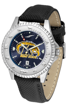 Kent State Golden Flashes Competitor AnoChrome Men's Watch with Nylon/Leather Band
