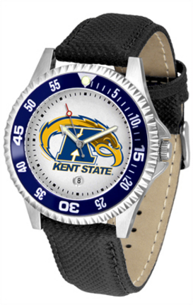 Kent State Golden Flashes Competitor Men's Watch with Nylon / Leather Band