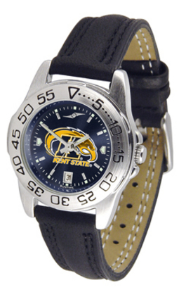 Kent State Golden Flashes Sport AnoChrome Ladies Watch with Leather Band