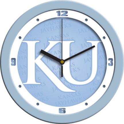 Kansas Jayhawks 12 inch Blue Wall Clock
