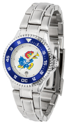 Kansas Jayhawks Competitor Ladies Watch with Steel Band