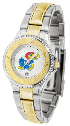 Kansas Jayhawks Competitor Ladies Watch with Two-Tone Band