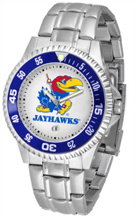 Kansas Jayhawks Men's Competitor Watch with a Metal Band