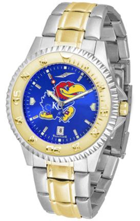 Kansas Jayhawks Competitor AnoChrome Two Tone Watch