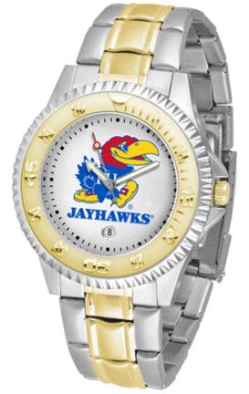 Kansas Jayhawks Competitor Men's Two Tone Watch