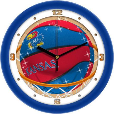 Kansas Jayhawks Slam Dunk 12 inch Wall Clock