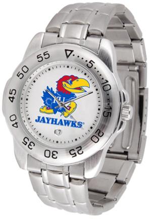 Kansas Jayhawks Sport Steel Band Men's Watch