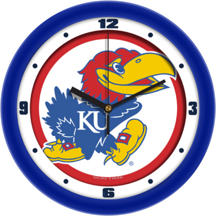 Kansas Jayhawks Traditional 12 inch Wall Clock