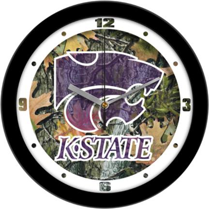 Kansas State Wildcats 12 inch Camo Wall Clock