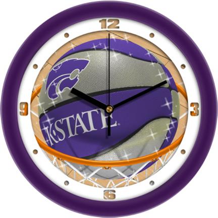 Kansas State Wildcats Slam Dunk 12 inch Wall Clock