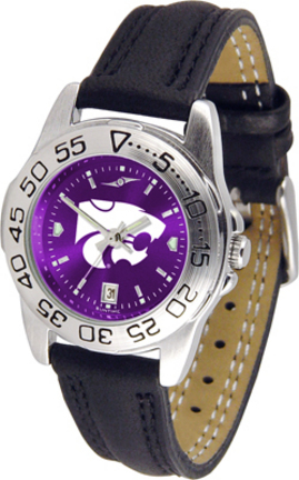 Kansas State Wildcats Sport AnoChrome Ladies Watch with Leather Band