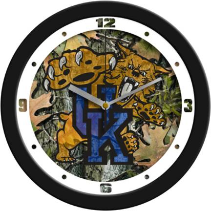 Kentucky Wildcats 12 inch Camo Wall Clock