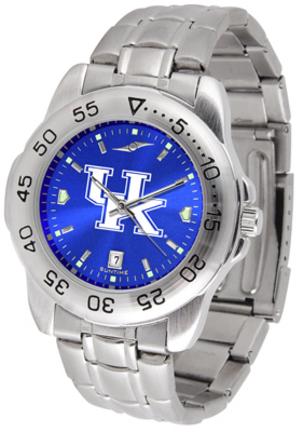 Kentucky Wildcats Sport Steel Band Ano-Chrome Men's Watch