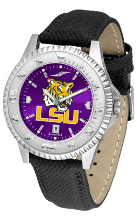 Louisiana State (LSU) Tigers Competitor AnoChrome Men's Watch with Nylon/Leather Band