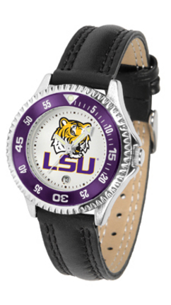 Louisiana State (LSU) Tigers Competitor Ladies Watch with Leather Band