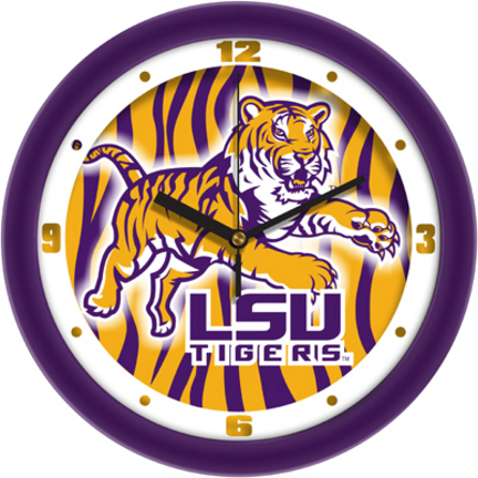 Louisiana State (LSU) Tigers 12 inch Dimension Wall Clock