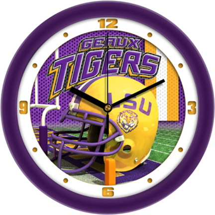 Louisiana State (LSU) Tigers 12 inch Helmet Wall Clock