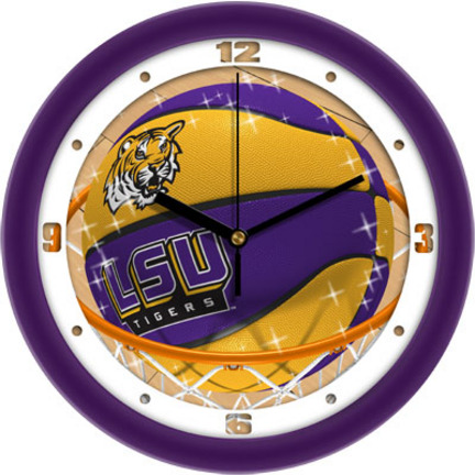 Louisiana State (LSU) Tigers Slam Dunk 12 inch Wall Clock