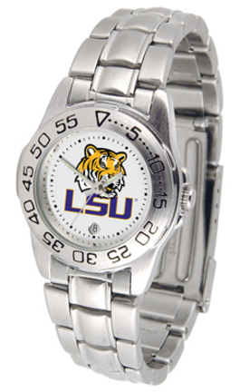 Louisiana State (LSU) Tigers Gameday Sport Ladies' Watch with a Metal Band