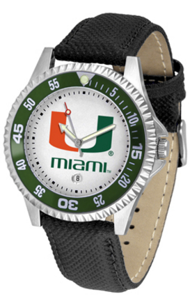 Miami Hurricanes Competitor Men's Watch by Suntime