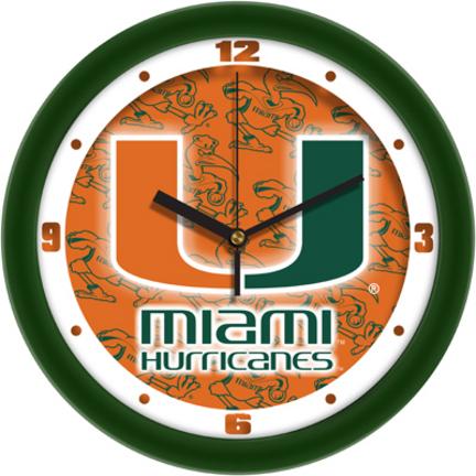 Miami Hurricanes 12 inch Dimension Wall Clock