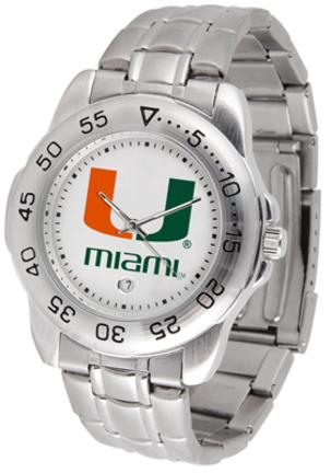 Miami Hurricanes Sport Steel Band Men's Watch