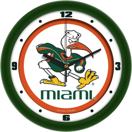 Miami Hurricanes Traditional 12 inch Wall Clock