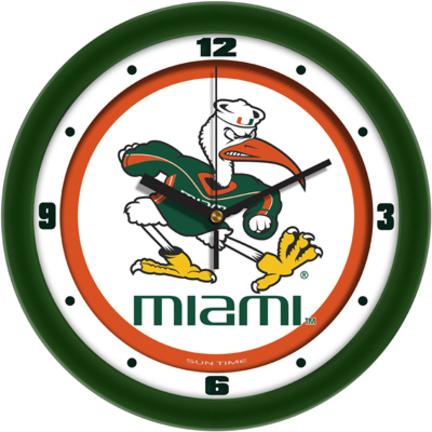 Miami Hurricanes Traditional 12 inch Wall Clock