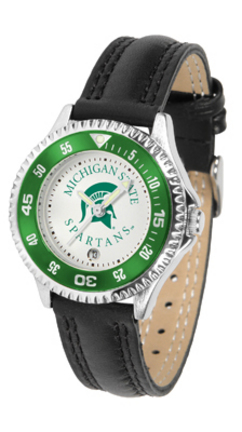 Michigan State Spartans Competitor Ladies Watch with Leather Band