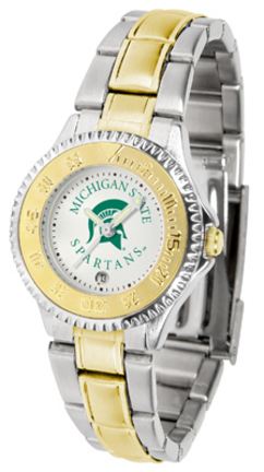 Michigan State Spartans Competitor Ladies Watch with Two-Tone Band