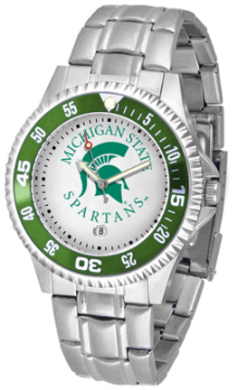 Michigan State Spartans Competitor Watch with a Metal Band