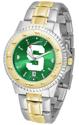 Michigan State Spartans Competitor AnoChrome Two Tone Watch