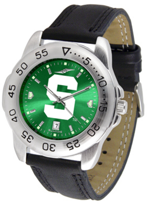 Michigan State Spartans Sport AnoChrome Men's Watch with Leather Band
