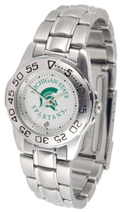 Michigan State Spartans Gameday Sport Ladies' Watch with a Metal Band